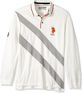 U.S. Polo Assn. Men's Slim Fit Color Block Long Sleeve Pique Polo Shirt