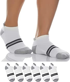 Sockyfy |Pack of 6| Unisex Socks- Athletic Ankle Extra Mesh Cotton Socks for Men and Women Free Size - Pack of 6 - Grey an...
