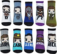 The Walking Dead Lowcut Socks (10 Pair) - No Show Low Cut Socks - Fits Shoe Size: 4-10 (Ladies)