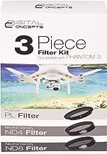 Digital Concepts DC-FK3-PH3 Drone Camera Lens Filter Kit for Phantom 3 (Black)