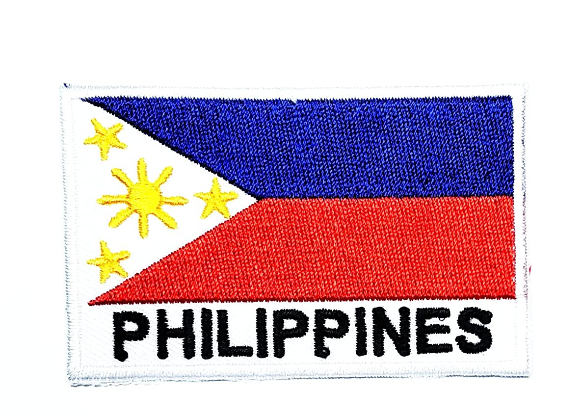 HHO Philippines Country Flag Patch National flag Patch Embroidered DIY Patches, Applique Sew Iron on for everyone Craft Patch for Bags Jackets Jeans Clothes Patch Jacket T-shirt Sew Iron on Costume