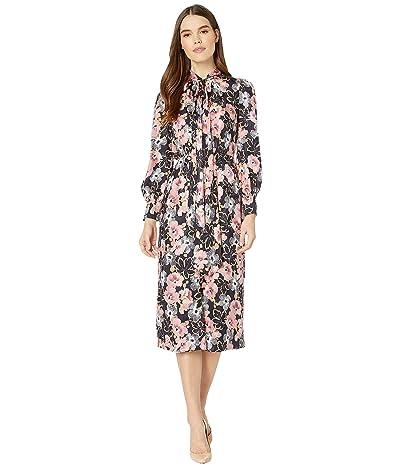Rebecca Taylor Long Sleeve Jardin Fleur Dress (Indigo Combo) Women