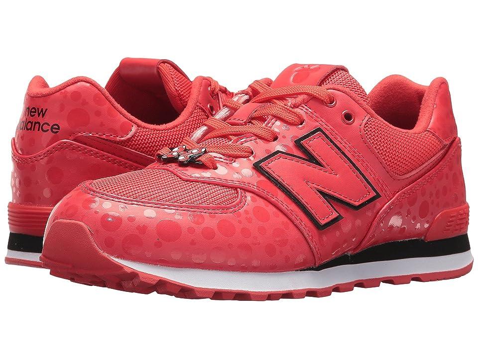 New Balance Kids GC574v1 Minnie Rocks the Dots (Big Kid) (Red/White) Kids Shoes