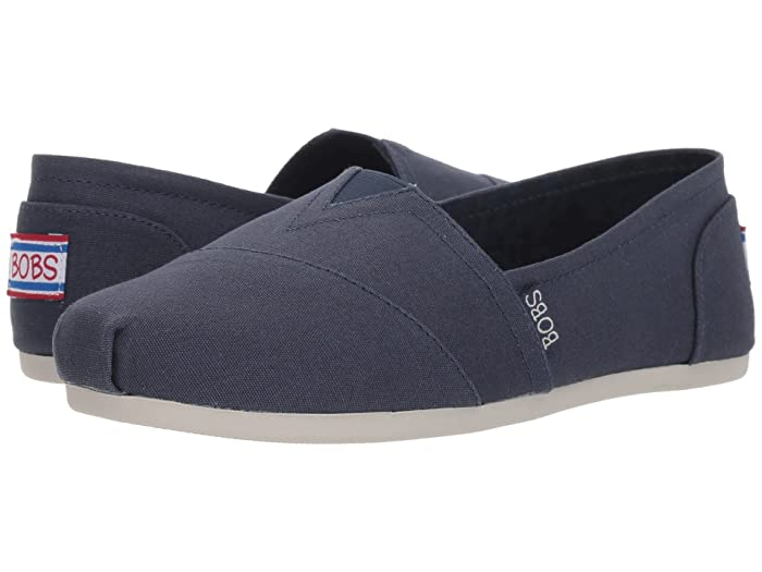 BOBS from SKECHERS  Bobs Plush - Peace Love (Dark Navy) Womens Flat Shoes