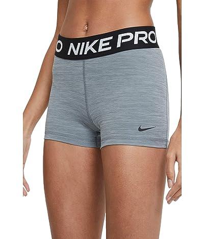 Nike Pro 3 Short (Smoke Grey/Heather/Black/Black) Women