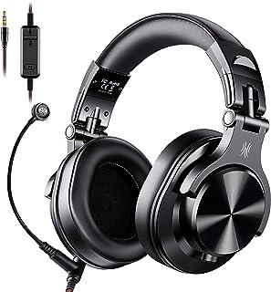 OneOdio 高性能 有線 ヘッドホン 着脱マイク ゲーミングヘッドセット DJ用ヘッドホン PC用 ヘッドセット モニターヘッドホン A71 黒...