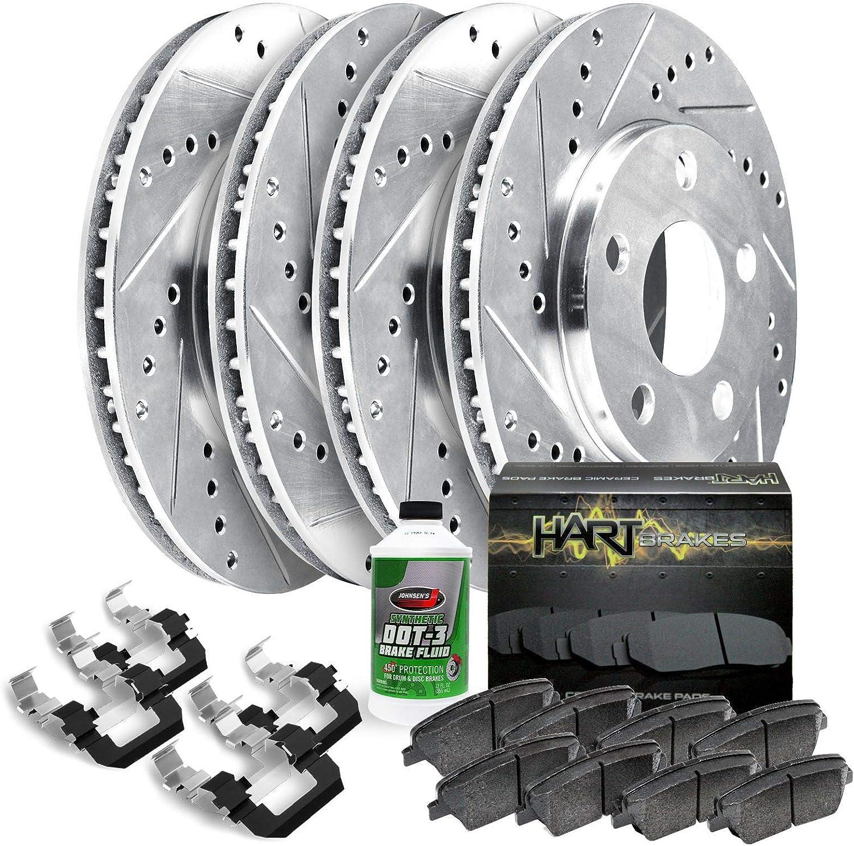 Hart Brakes Front Rear Drill Slot Ceramic All items free shipping pads + Brake PH Nashville-Davidson Mall Rotors
