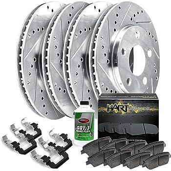 Power Stop K8183 Z23 FrontBrake Kit-Drilled//Slotted Brake Rotor /& Carbon Ceramic Brake Pads