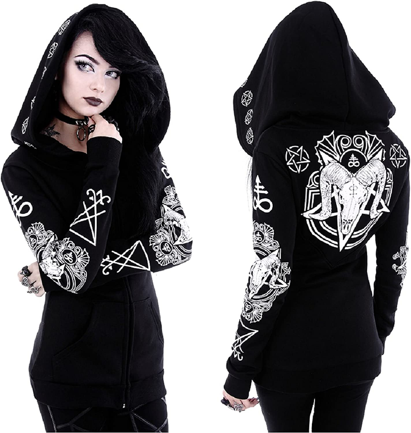 Long Beach Mall Restyle Occult Superlatite Ram Skull Pentacle Goth Punk Nugoth Witchc Ritual