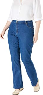 Women's Plus Size Petite Bootcut Stretch Jean