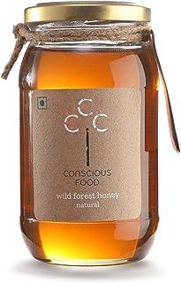 Conscious Food Wild Forest Honey 500 G - Immunity Booster, Unheated, Raw Honey