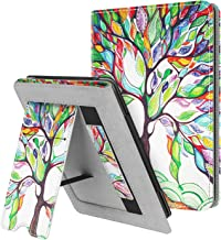 Fintie Stand Case for Kindle Paperwhite (Fits All-New 10th Generation 2018 / All Paperwhite Generations) - Premium PU Leather Protective Sleeve Cover with Card Slot and Hand Strap, Love Tree