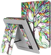 کیس استند Fintie برای Kindle Paperwhite (متناسب با نسل جدید 10-نسل 2018 / همه نسل های Paperwhite) - پوشش آستین محافظ چرمی Premium PU با شکاف کارت و بند دستی ، درخت عشق