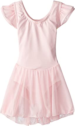 Flutter Sleeve Dress (Toddler/Little Kids/Big Kids)