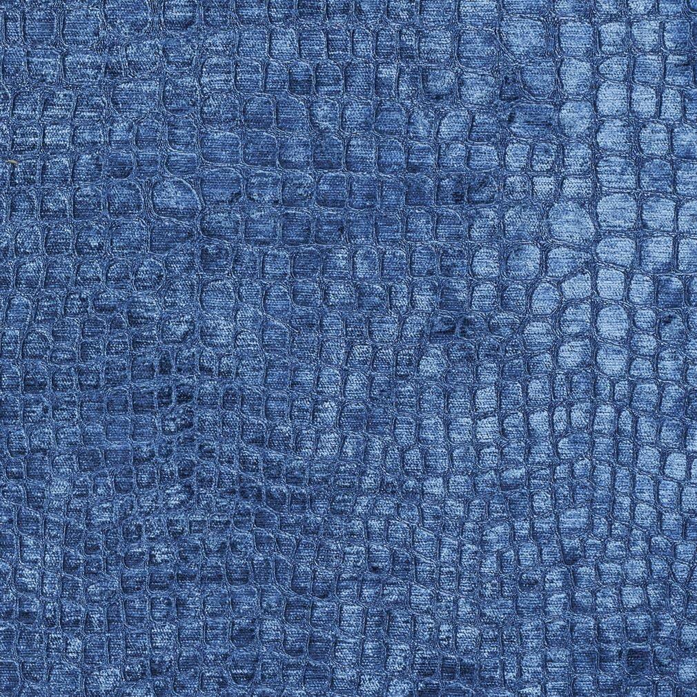 A0151S Blue Textured Alligator Max 90% OFF Shiny U Velvet Woven Popular brand Contemporary