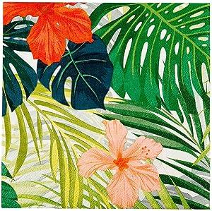 Assorted Paper Luncheon Napkin - Hibiscus Flowers - 13