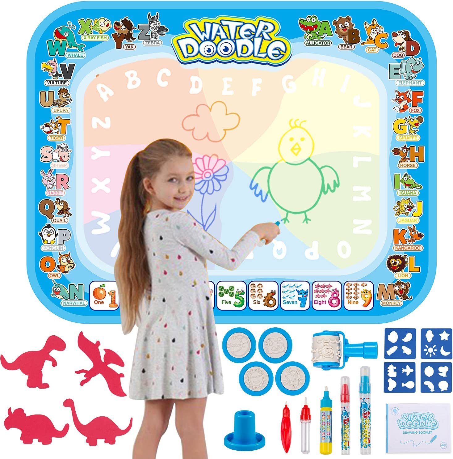 HonShoop Water Drawing Mat Aqua Doodle 40 Mess Inches NEW before selling ☆ 32 Daily bargain sale X