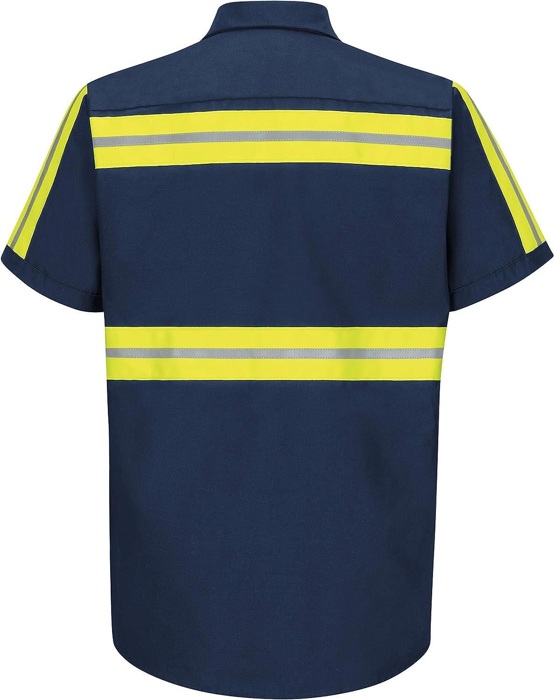 Red Kap Men's Performance Tech 2 Piece Lined Collar Shirt