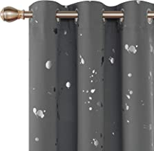 Deconovo Silver Dots Printed Thermal Insulated Blackout Curtains Grommet Curtains Light Grey Blackout Curtains for Bedroom 42 W x 95 L Light Grey 2 Panels