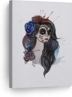 day of the dead woman painting