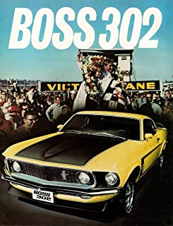 Celebrity tin Signs, Photos, Framed Art 8 x 10 Tin Sign N_1969 Ford Mustang Boss 302-01