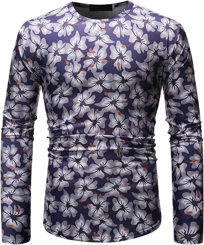 Maryia Men's Luxury Design Paisley Printed Dress Shirt Retro Slim Fit Casual Long Sleeve Tops Blouse