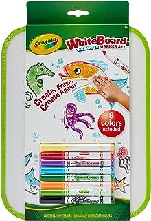 CRAYOLA 98 8676 Whiteboard and 8 Washable Marker Set, Creativity on The Go