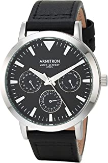 Armitron Men's Multi-Function Leather Strap Watch, 20/5443