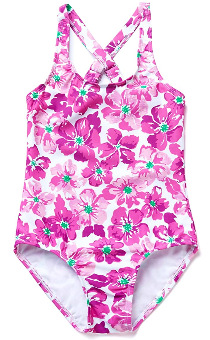ATTRACO Girls One Piece Swimsuit Swimwear Hawaii Beach Bathing Suit