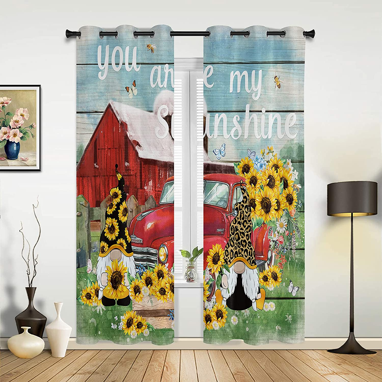 Inventory cleanup selling sale Window Sheer Curtains for New mail order Bedroom Living Farm Room F Barn Summer