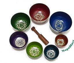 Chakra Healing Tibetan Singing Bowls (Set of 7) for A,B,C,D,E,F,G Chakras By NepaMart