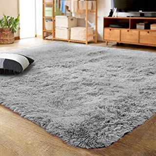 LOCHAS Ultra Soft Indoor Modern Area Rugs Fluffy Living Room Carpets for Children Bedroom..