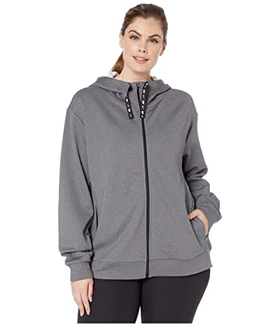 Nike Plus Size Therma All Time Ribbon Drawcord Full Zip Hoodie (Black/Heather/Black) Women