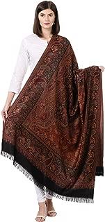 Pashtush Women's Kashmiri Embroidery Shawl, Jacquard palla, Warm ande soft, Luxury Design