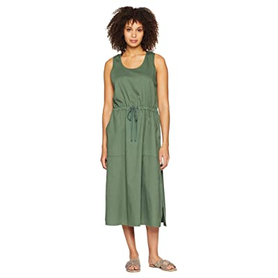 Eileen Fisher Scoop Neck C/L Dress (Nori) Women
