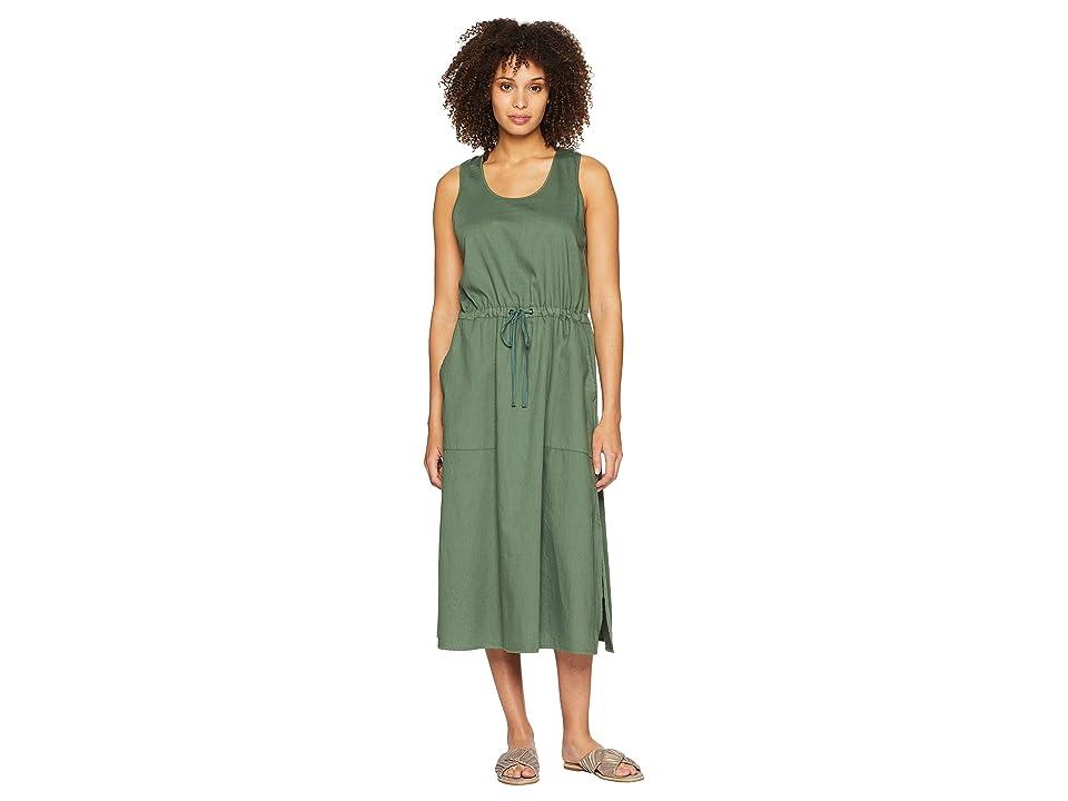 Eileen Fisher Scoop Neck C/L Dress (Nori) Women