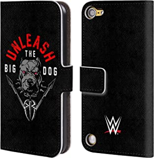 Official WWE Roman Reigns Unleash The Big Dog 2018/19 Superstars 4 Leather Book Wallet Case Cover Compatible for iPod Touch 5G 5th Gen