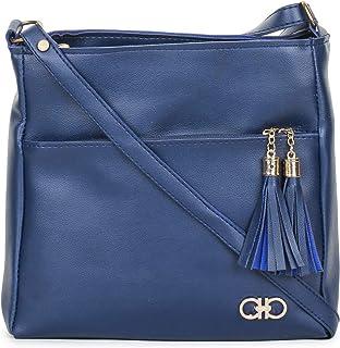 GLOSSY Women's Sling Bag (Blue)