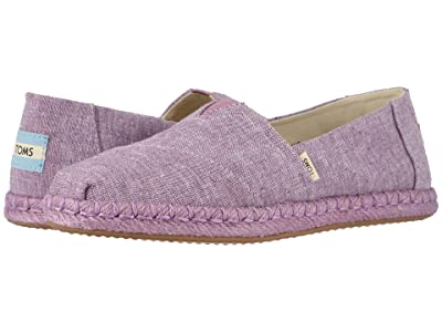 TOMS Alpargata on Rope (Rose Violet Slub Chambray on Rope) Women