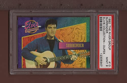 13 Surrender - 1992 The Elvis Collection Dufex Card PSA rated MINT 9