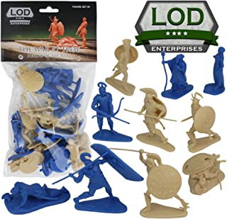 LOD TROJAN WAR 12 Plastic Hero Figures - Helen of Troy Paris Achilles Odysseus