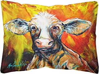Another Happy Cow Fabric Decorative Pillow