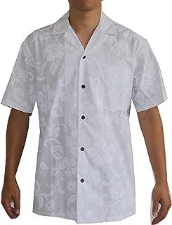 Made in Hawaii ! Men's White Wedding Hawaiian Aloha Shirt