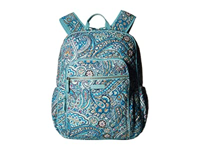 Vera Bradley Iconic Campus Backpack (Daisy Dot Paisley) Backpack Bags