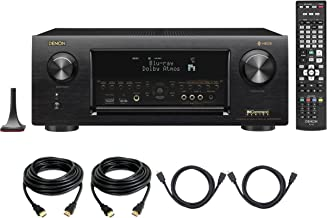 Denon AVR-X6400H HEOS 11.2 Network, Multi Room Audio Technology, Dolby Atmos, Bluetooth-WiFi in-Command 4K Ultra HD AV Receiver with 4 HDMI Cables