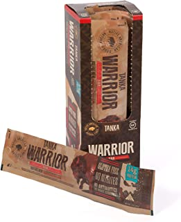 Bison Pemmican Warrior Meat Bars with Buffalo & Cranberries by Tanka, Gluten Free, Beef Jerky Alternative, Slow Smoked Original, 2 Oz, Pack of 12