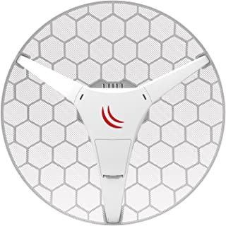 MikroTik LHG HP5 Dual Chain High Power 24.5dBi 5GHz CPE Point-to-Point Integrated Antenna (RBLHG-5HPnD-US)