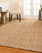 Natural Area Rugs Handmade Chunky Calvin Jute Rug 5' x 8', 100% High Quality Natural Jute, Heavier and Thicker than other Jute Rugs, Reversible for Twice the Wear, Beige