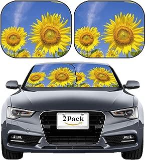 MSD Car Sun Shade Windshield Sunshade Universal Fit 2 Pack, Block Sun Glare, UV and Heat, Protect Car Interior, Image ID: 34984148 Sun Flower in Garden