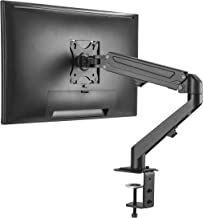 AVLT-Power Single 14.3 lbs Monitor Desk Stand - Mount Computer Monitor on Full Motion Adjustable Arm - Organize Your Work Surface with Ergonomic Viewing Angle VESA Monitor Mount